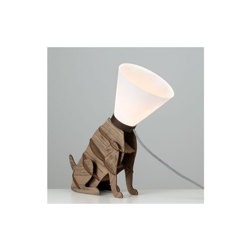 Sitting dog table lamp with cone shade geotapseo Gallery