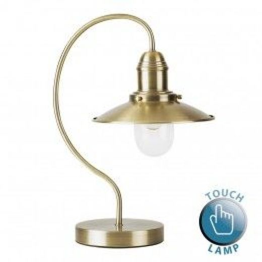 - Ukai Antique Brass Fishermans Touch Table Lamp