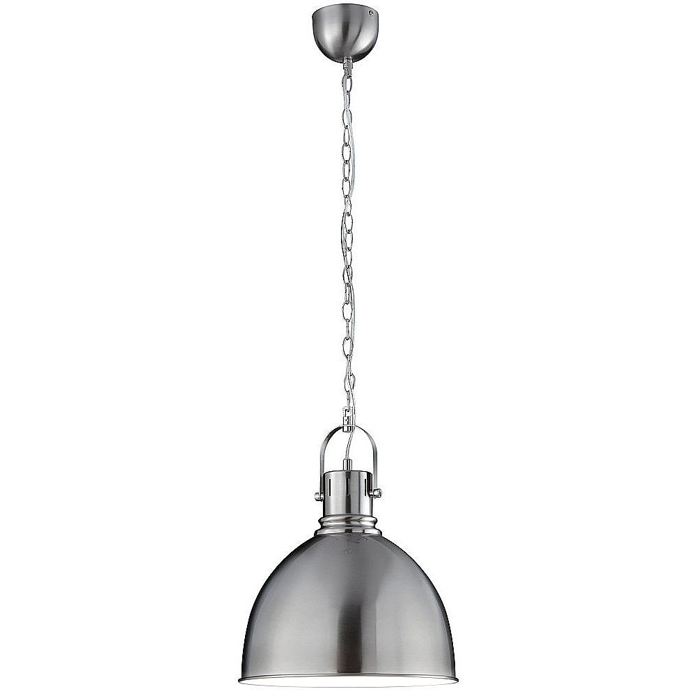Satin Nickel Hanging Pendant Light Fitting With Chain