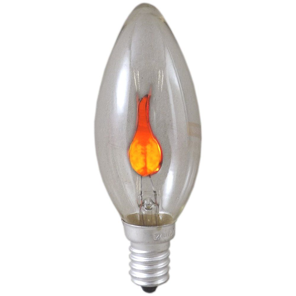 3 watt ses e14mm clear flicker flame candle light bulb. Black Bedroom Furniture Sets. Home Design Ideas
