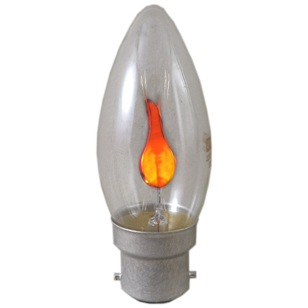 3 watt bc b22mm flicker flame candle light bulb. Black Bedroom Furniture Sets. Home Design Ideas
