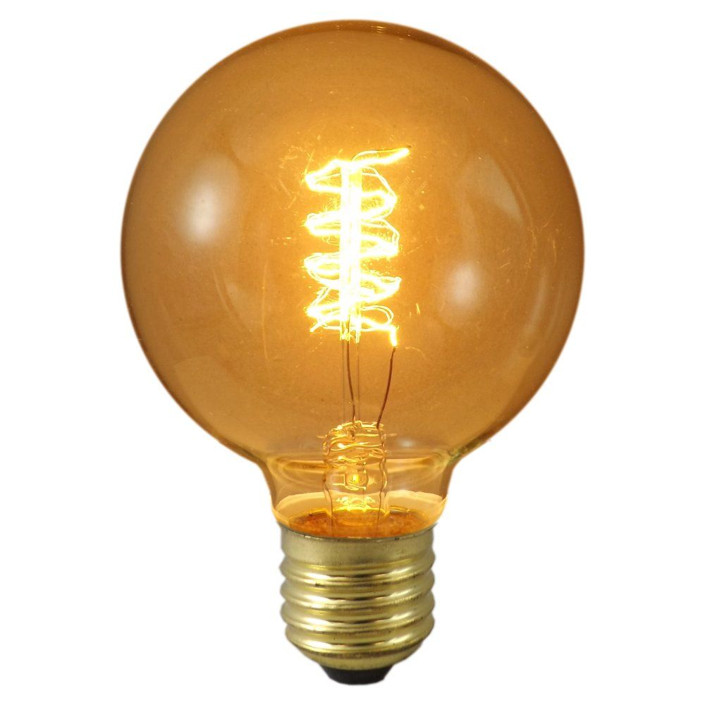40 Watt Es E27mm Globe De Luxe Rustic Antique Decorative Light Bulb