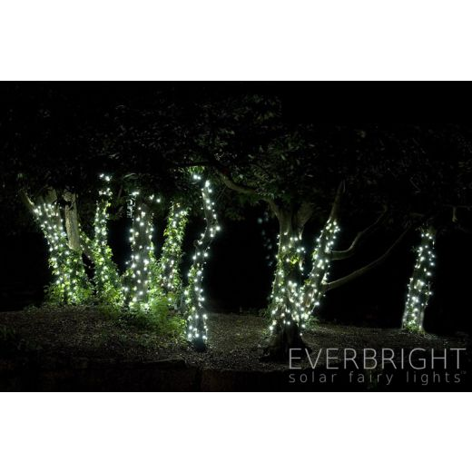 30 metre 300x white led solar usb powered outdoor indoor fairy lights