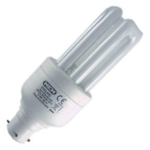 15 watt MEM F1266a BC3 3-Pin Energy Saving Light Bulb