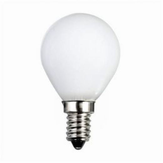 60 watt ses e14 frosted golfball light bulb. Black Bedroom Furniture Sets. Home Design Ideas