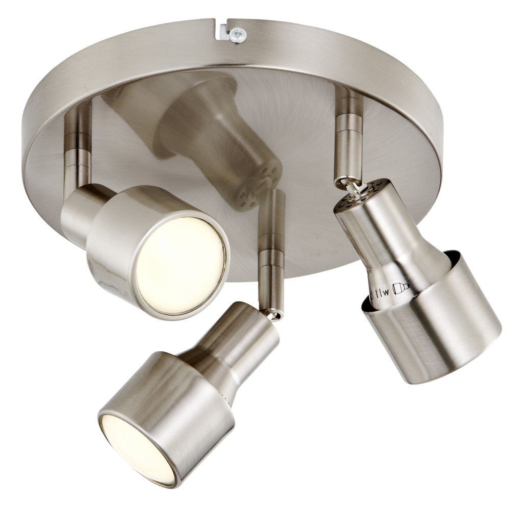 3 Bulb Ceiling Light: Valletta 3 Head Spot Plate