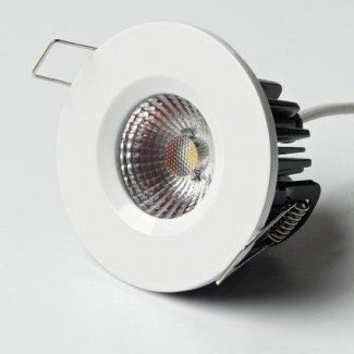 White ELAN Fire u0026 IP65 Rated 10 watt COB LED Light Fitting