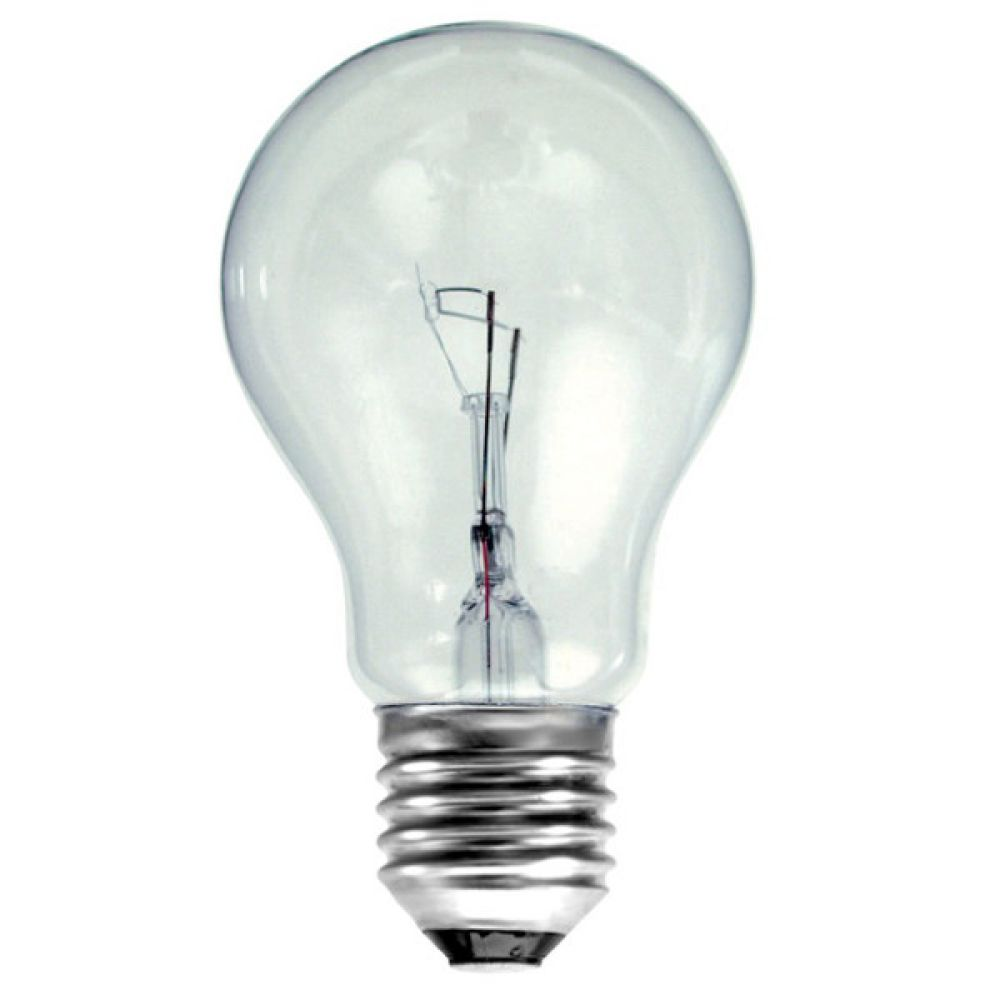 100 Watt Es E27mm Clear Traditional Household Gls Light Bulb