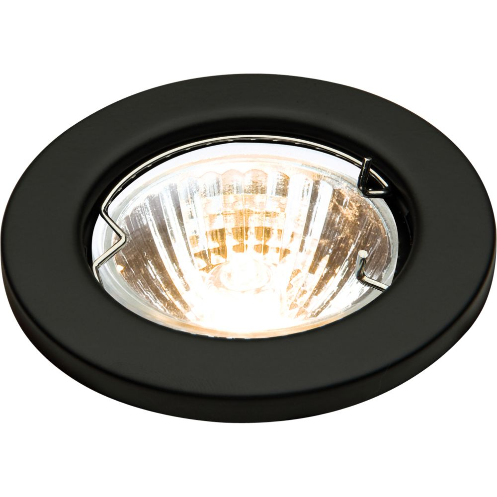 Low Voltage Mr16 Fixed Black Downlight Fitting