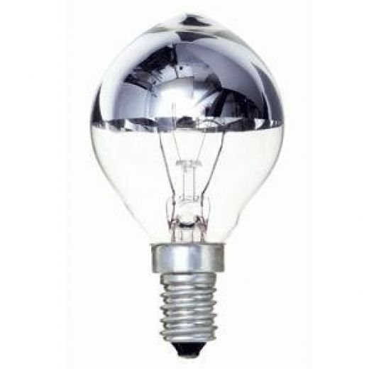 40 watt ses e14 crown silver household gls light bulb. Black Bedroom Furniture Sets. Home Design Ideas