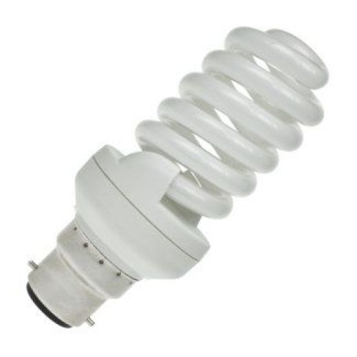 23 Watt Bc B22 Mini Spiral Energy Saving Light Bulb