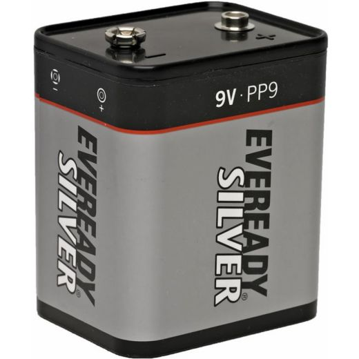 eveready silver 9 volt pp9 zinc chloride battery. Black Bedroom Furniture Sets. Home Design Ideas
