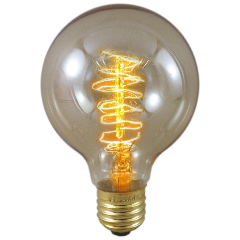 40 Watt Es E27 Gold Tinted Trillion Antique Globe Light Bulb