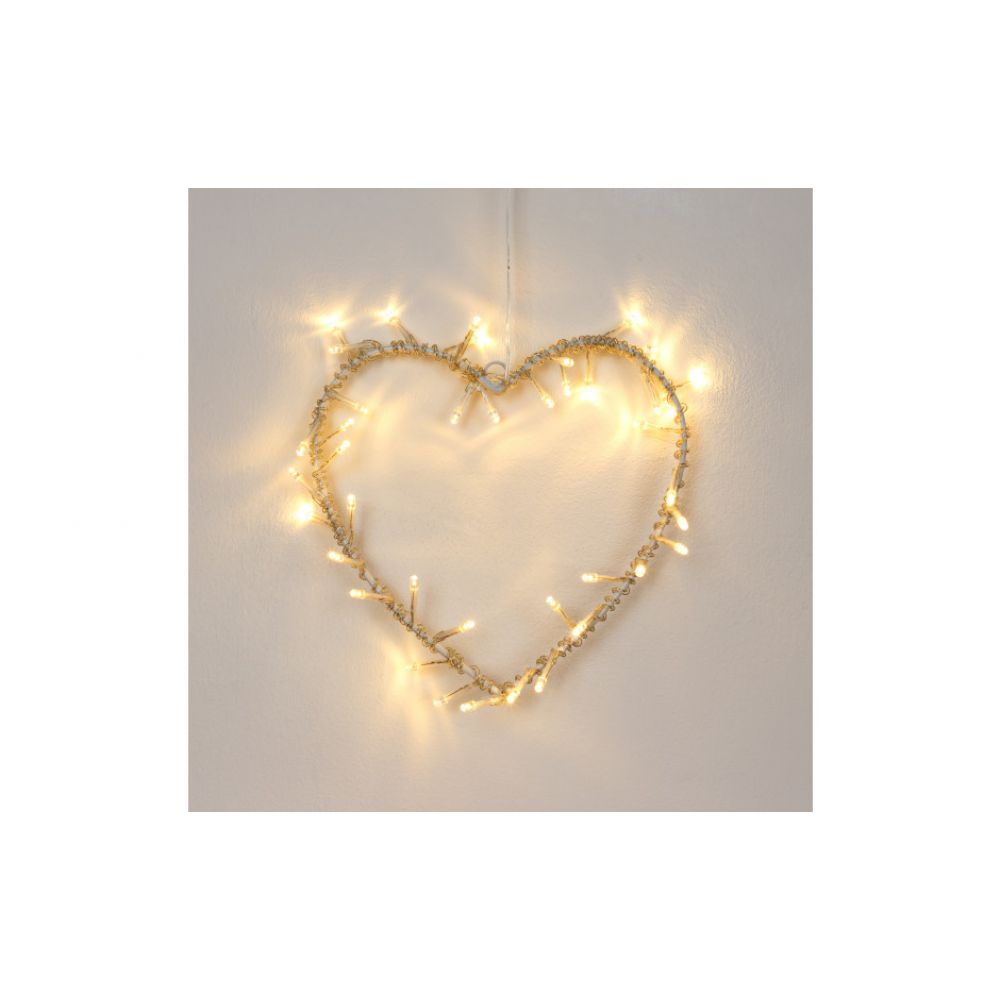 battery operated heart shaped wall plaque with 40 led bulbs. Black Bedroom Furniture Sets. Home Design Ideas