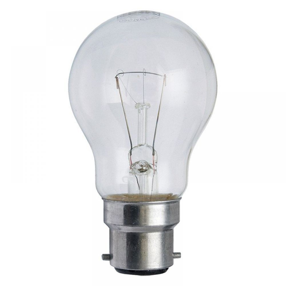 60 Watt 110 Volt Bc B22mm Clear Low Voltage Gls Lamp