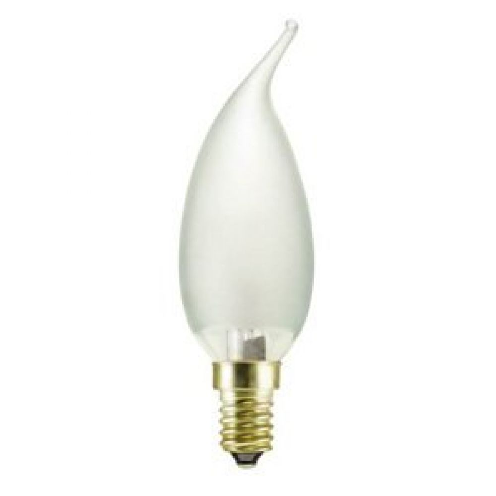 40 watt ses e14mm frosted flared candle light bulb. Black Bedroom Furniture Sets. Home Design Ideas