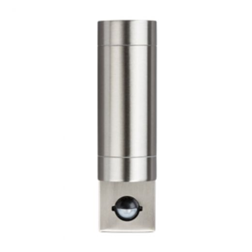 Stainless Steel Up Down Outdoor Wall Light With Pir Motion