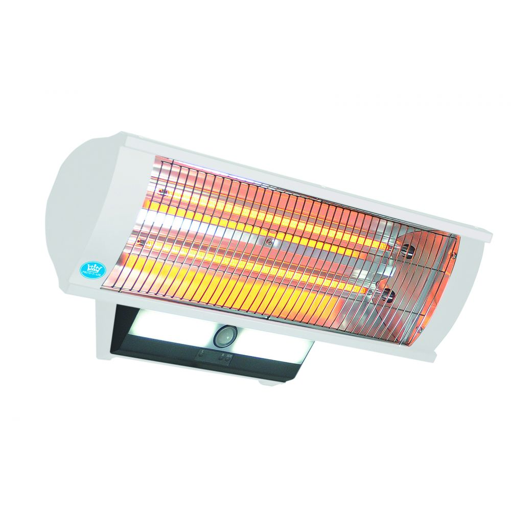 2300 Watt Calor Luz Wall Mounted Patio Heater With Light, Remote Control  And Sensor