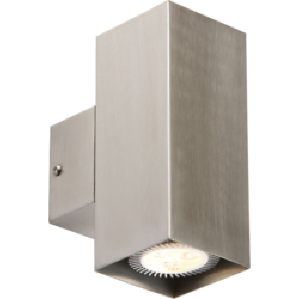 Indoor Up & Down Stainless Steel Square Wall Light