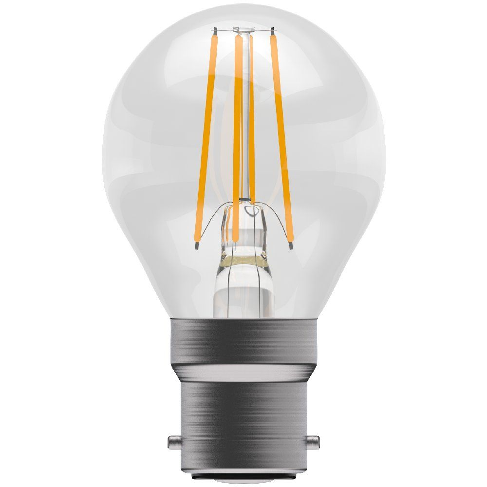 Bell 05030 LED 4 watt BC-B22mm Clear Filament LED Golfball Bulb