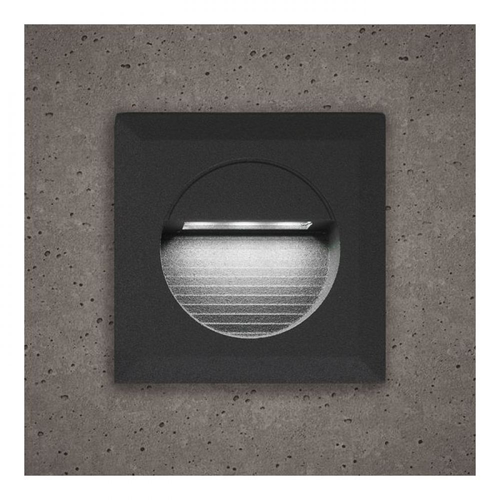 Astro Grey Square Guide Light With White LED Light