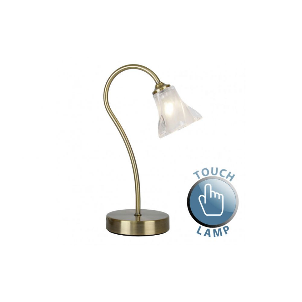 Table Lamp With Frosted Gl