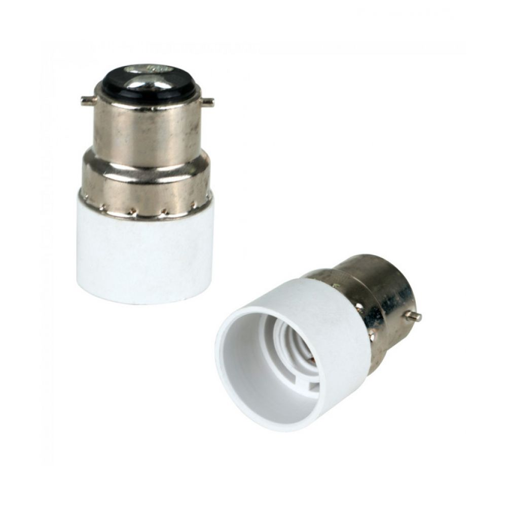 Standard Bayonet Cap BC-B22d to SES-E14mm Small Screw Lamp Socket Adapter