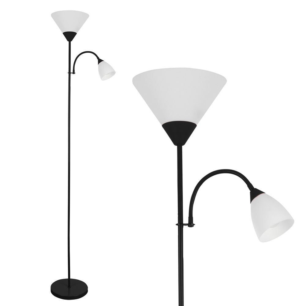Mozz black gloss mother child floor lamp aloadofball Images