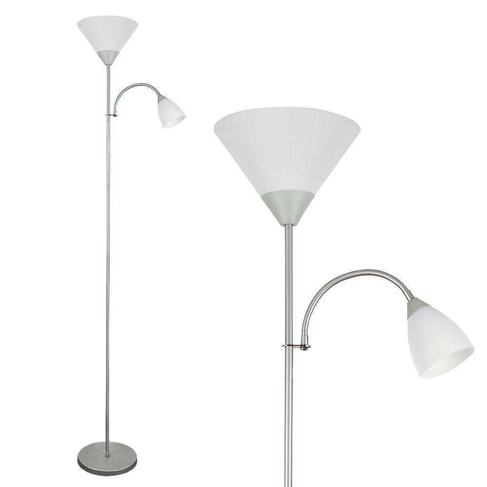 Mozz metallic silver gloss mother child floor lamp aloadofball Images