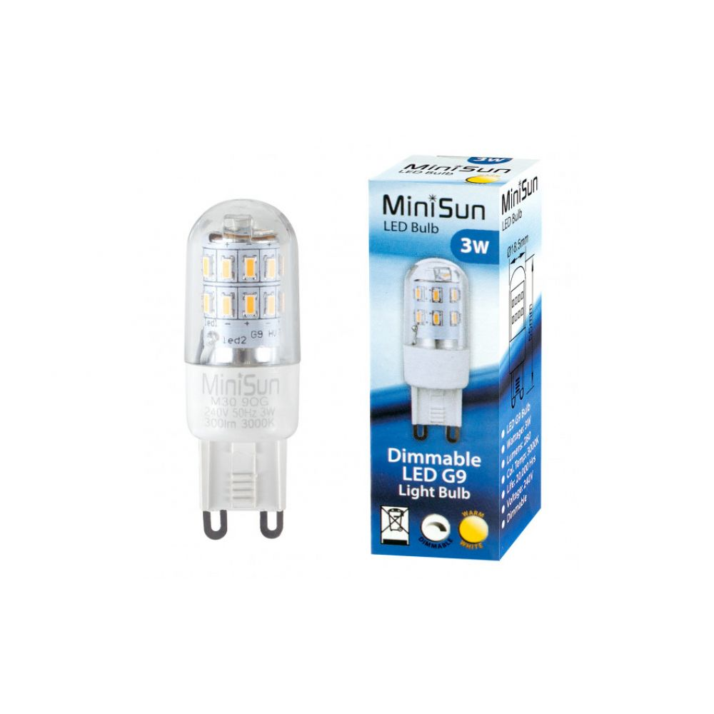 dimmable 3 watt smd g9 led capsule bulb warm white. Black Bedroom Furniture Sets. Home Design Ideas