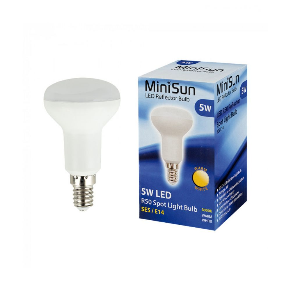 Minisun R50 5 Watt LED Warm White Reflector Spotlight Bulb