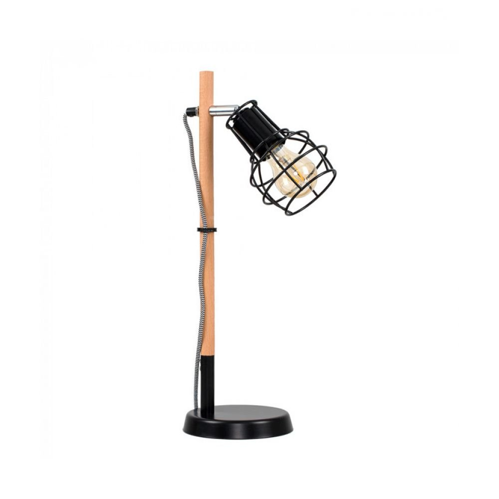 Murphy black wire and wood table lamp keyboard keysfo Choice Image