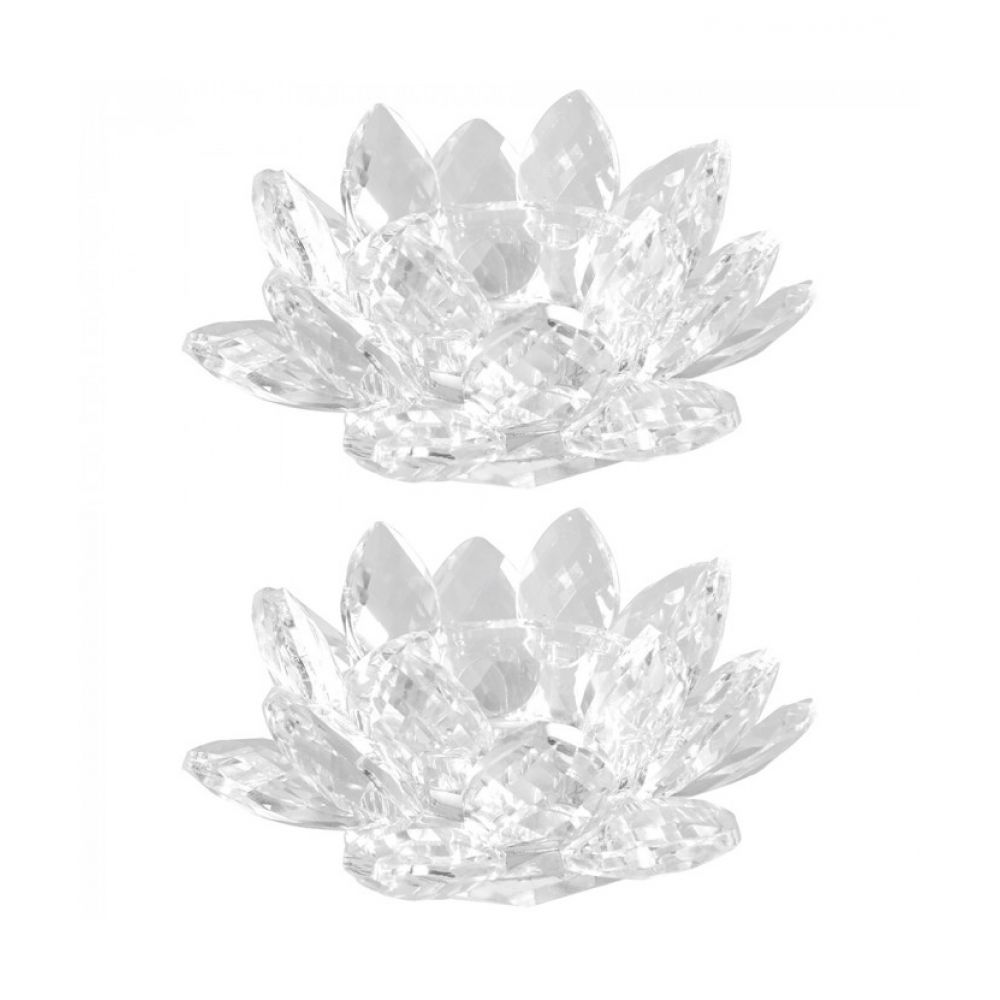 Glass Lotus Tealight Candle Holder Glass Designs