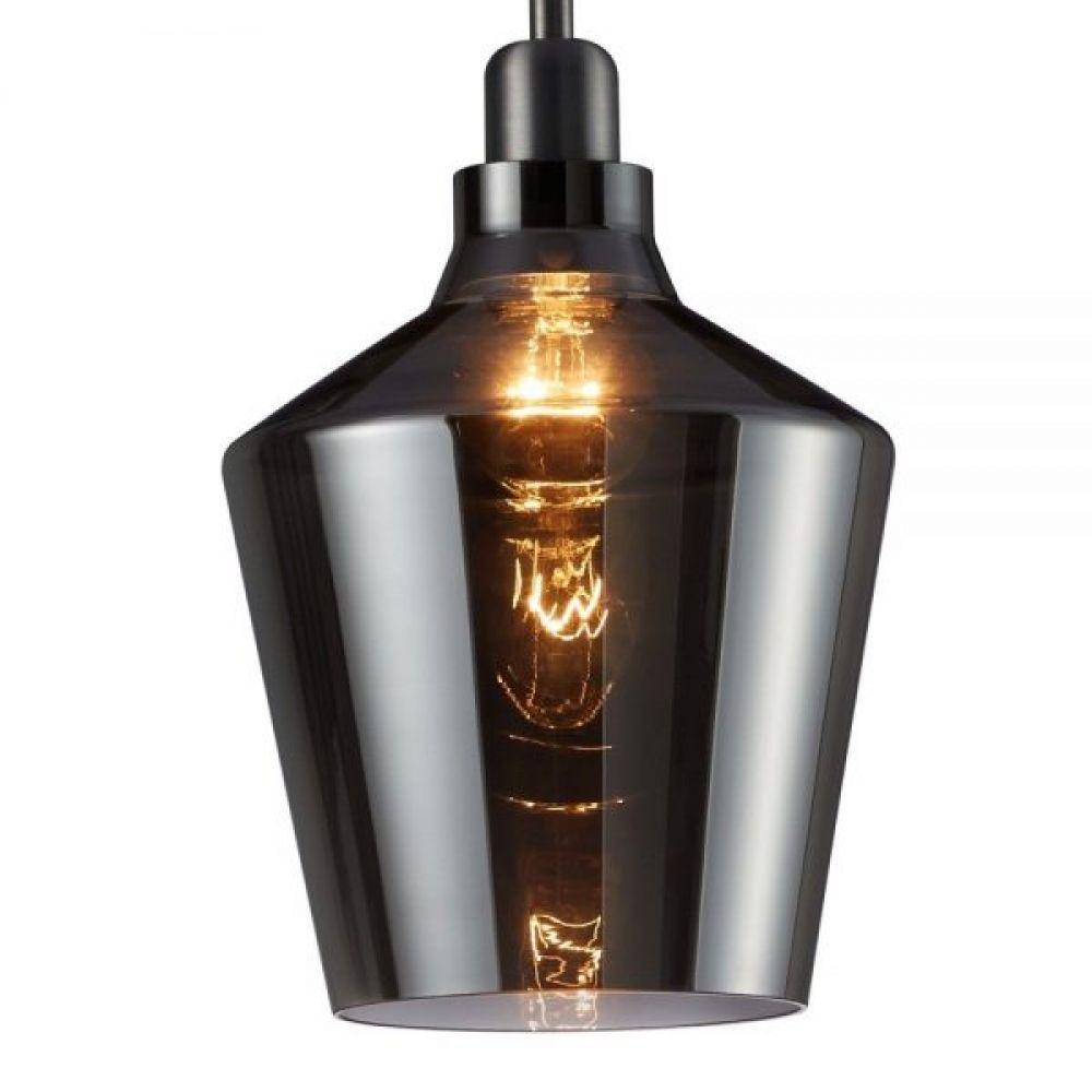 Calais Smoked Glass Hanging Pendant Light Fitting