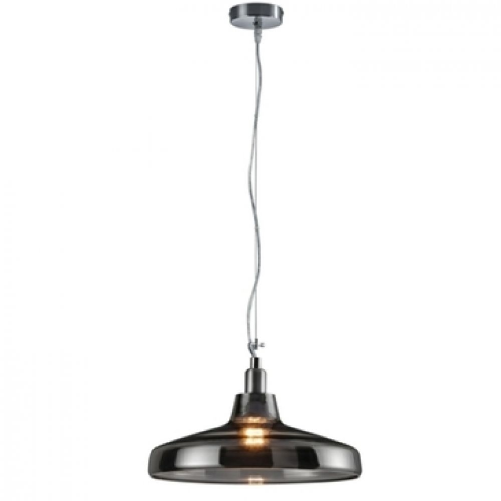 Dover smoked glass hanging pendant light fitting