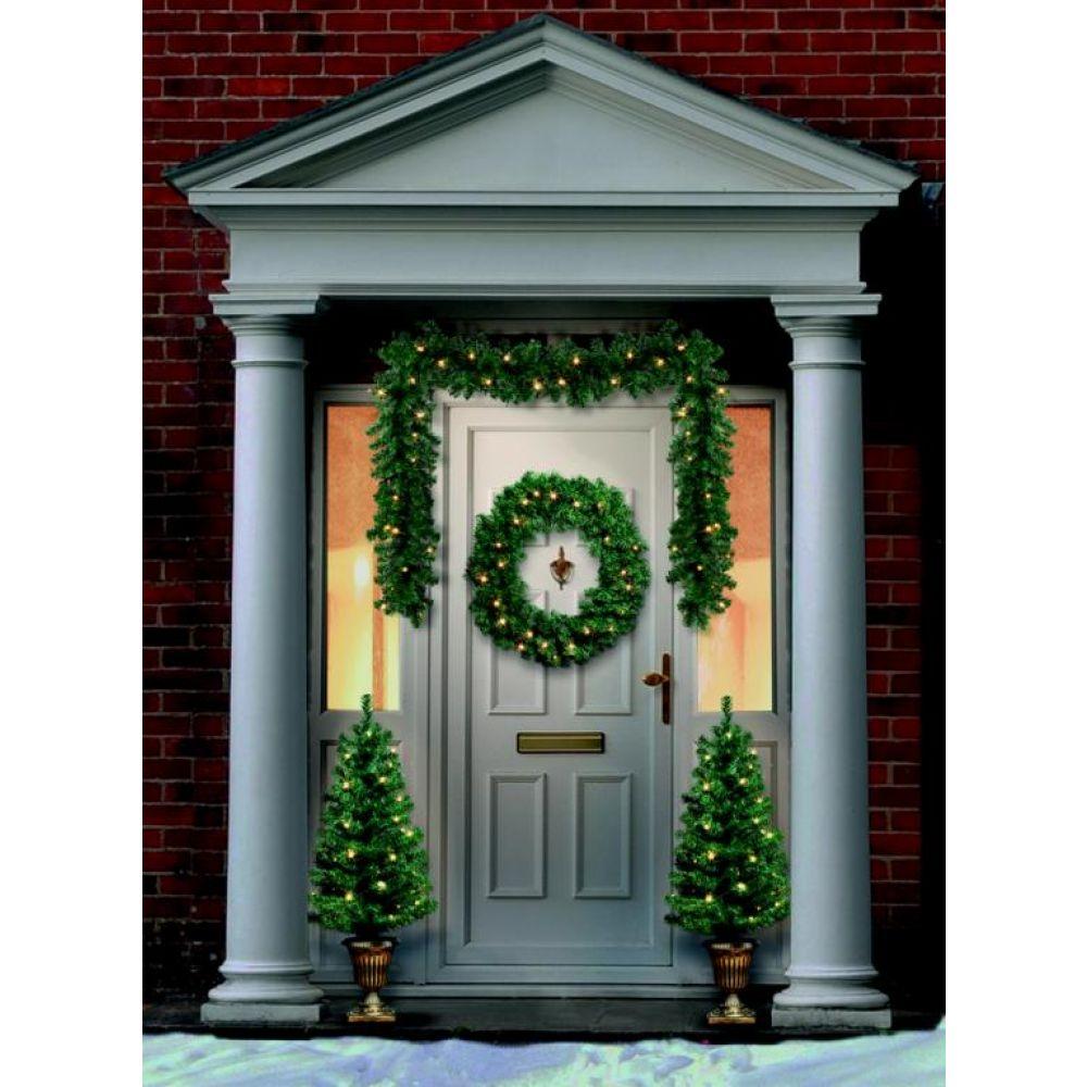 Christmas Door.Pre Lit 4 Piece Led Christmas Door Set