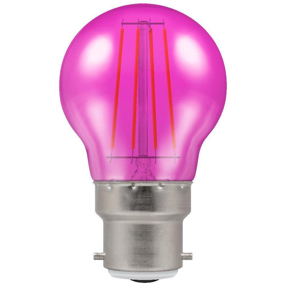 Crompton 9035 4 Watt Bc B22mm Pink Harlequin Led Gls Light
