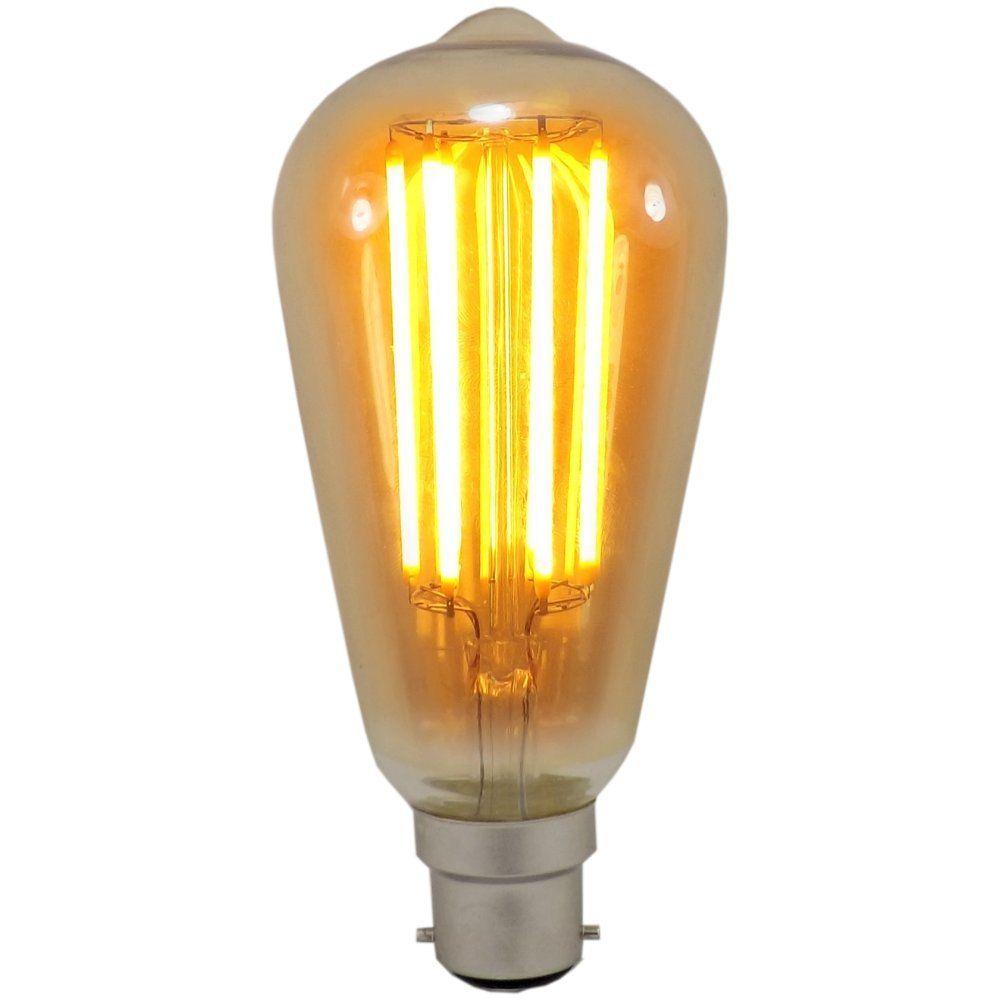 6 watt st64 bc b22mm decorative antique lantern led light bulb. Black Bedroom Furniture Sets. Home Design Ideas