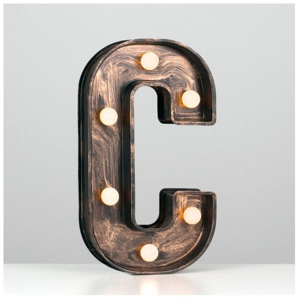 battery powered light up alphabet letter c