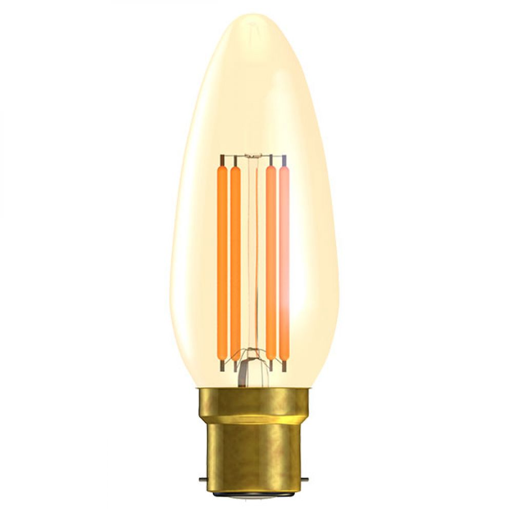 Bell 01430 Vintage 4 watt BC-B22mm Amber LED Candle Light Bulb