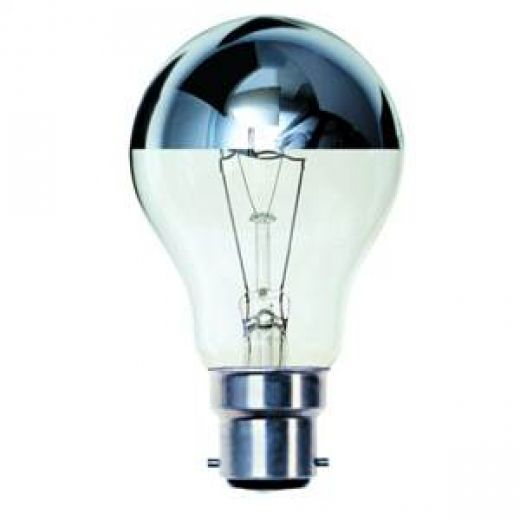 BELL 03012 100 watt Crown Silver GLS Light Bulb