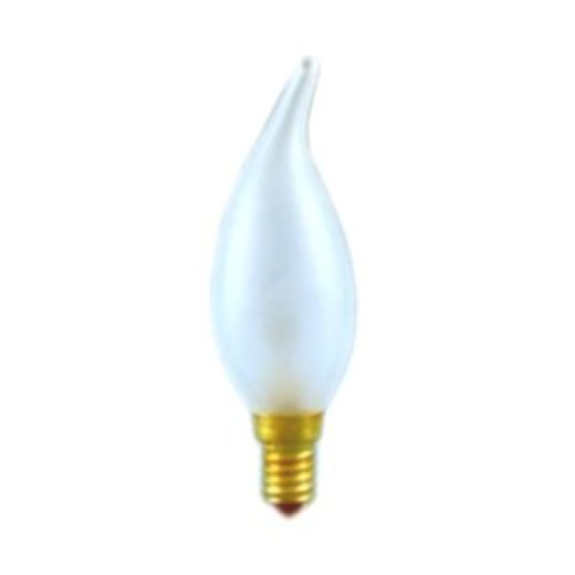 60 watt SES-E14mm Frosted Flared Candle Light Bulb
