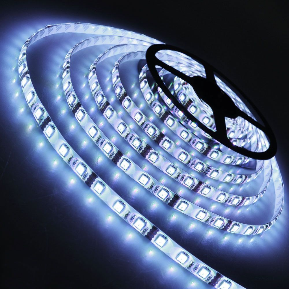 5 metre led strip cool white ip65 12 volt led tape mozeypictures Image collections