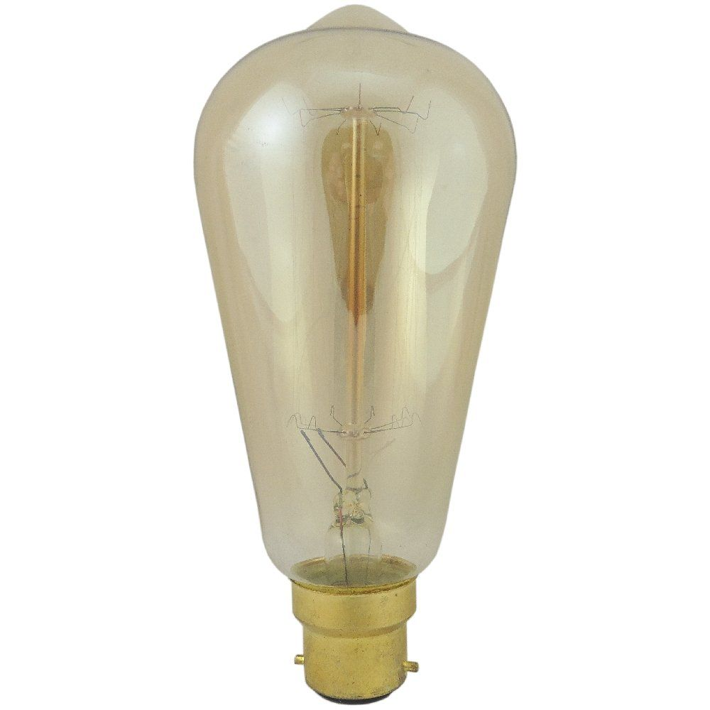 60 watt BC-B22mm Decorative Antique Period Lantern Bulb