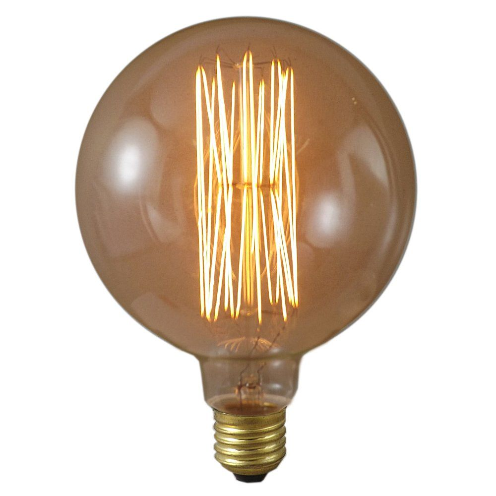 40 watt 125mm mega edison antique globe light bulb. Black Bedroom Furniture Sets. Home Design Ideas