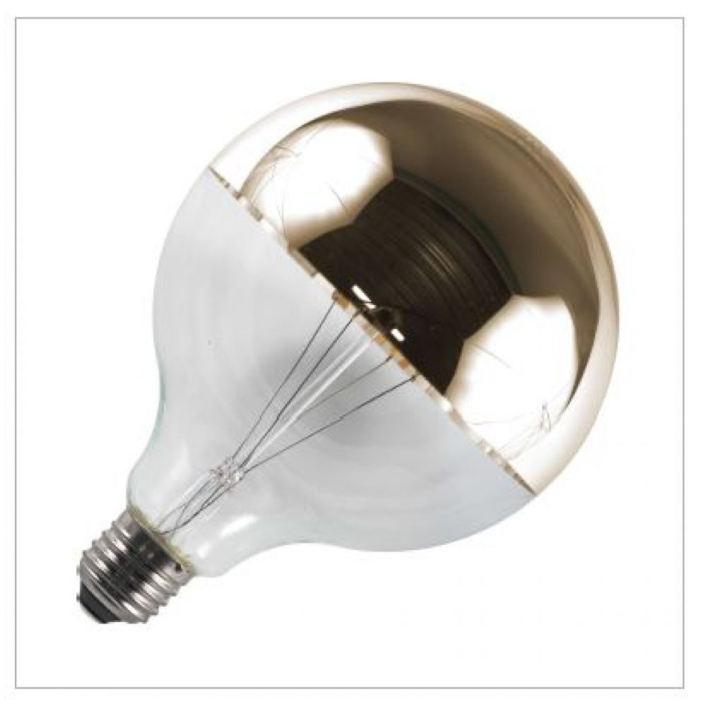 6.5 watt Crown Gold G125mm Dimmable LED Globe Bulb