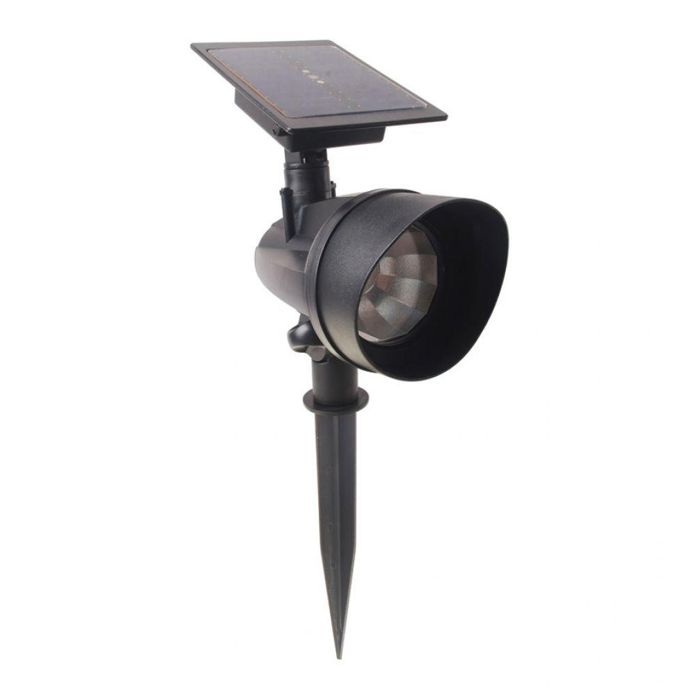 Duracell Solar Powered Black Outdoor Led Spot Light 6: Duracell 45 Lumen LED Solar Spike Spot Light
