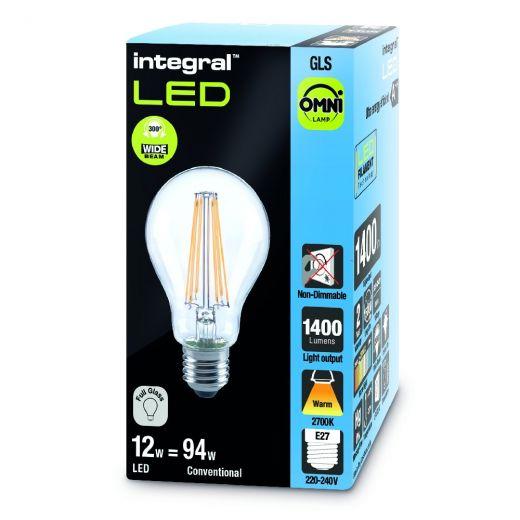 Integral LED GLS Omni 12 Watt (95W) ES-E27mm Filament LED