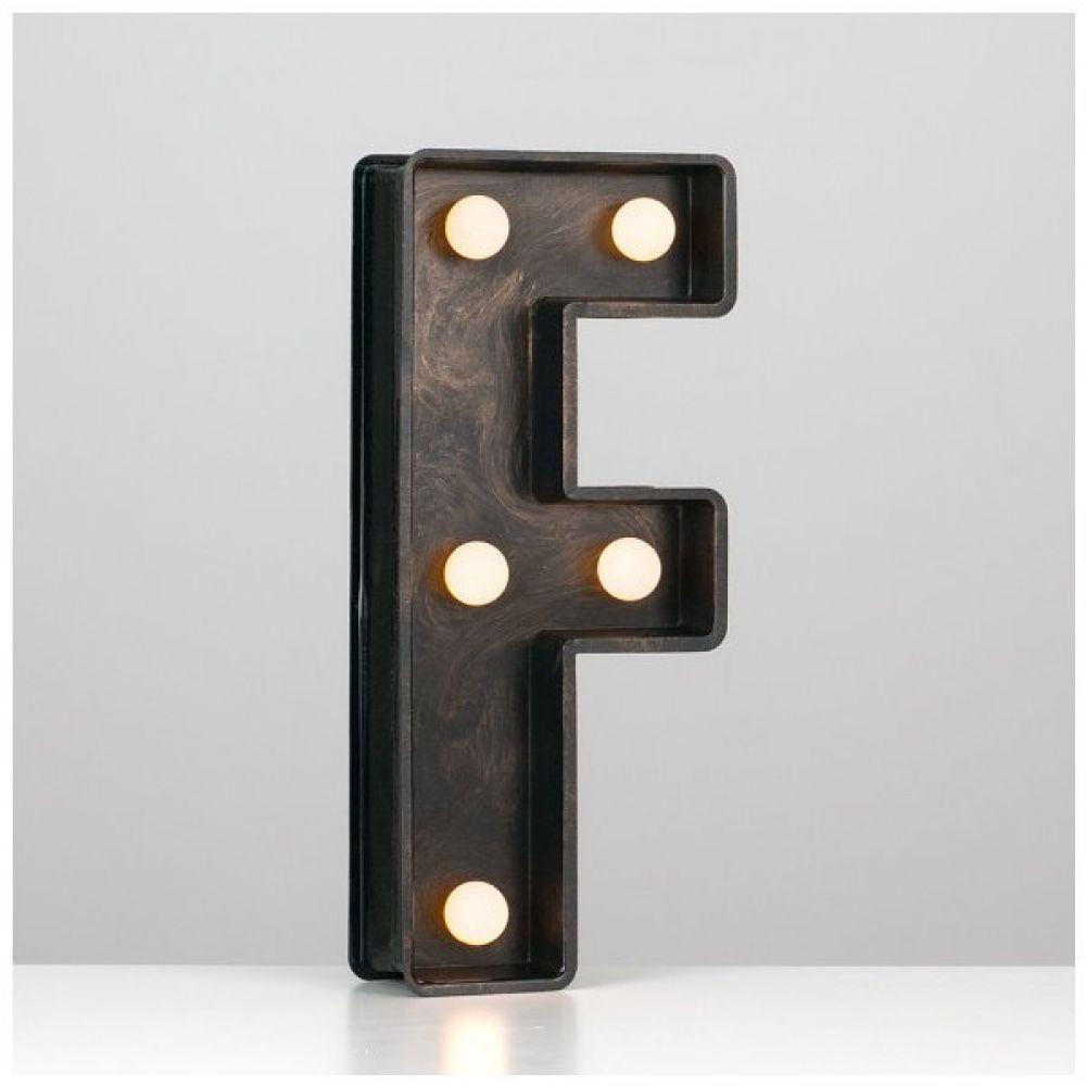battery powered led light up alphabet letter f
