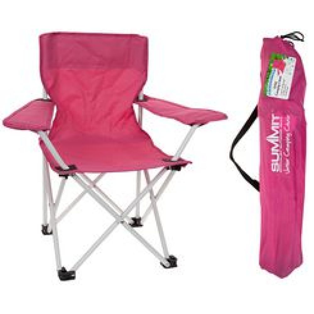 Kids Pink Folding Camping Chair